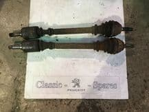 peugeot 205 1.4 gt xy pair of driveshafts